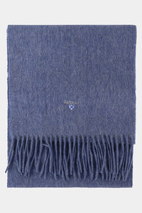 Barbour Scarf Plain Lambswool - Denim Blue - USC0008BL91 - Folded View