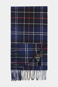 Barbour Tartan Lambswool Scarf - Navy/Red - USC0001NY11 - Folded View