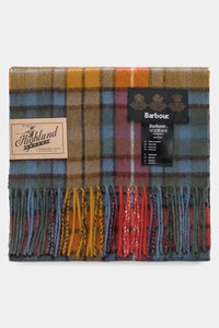 Barbour New Check Tartan Scarf - Antique Buchanan - USC0137BL11 - Folded View