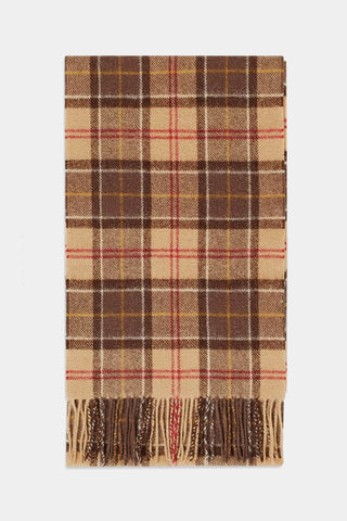 Barbour Tartan Lambswool Scarf - Muted Tartan - USC0001TN91 - Display