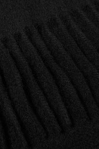 Barbour Scarf Plain Lambswool - Black - USC0008BK11 - Fringe Detail