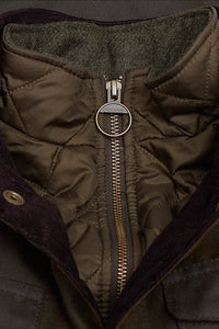 Barbour Ogston Wax Jacket - Olive - MWX0700OL51 - Collar Detail