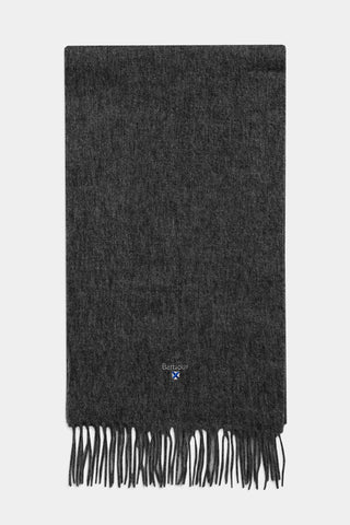 Barbour Scarf Plain Lambswool - Charcoal/Grey - USC0008CH71 - Display View