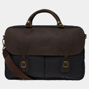 Barbour Briefcase Wax Leather - Navy - UBA0004NY91 - Front View