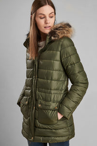 Barbour Ladies Redpoll Quilt Jacket - Olive - LQU0975OL51 - Front View
