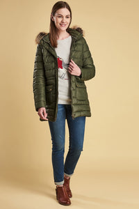 Barbour Ladies Redpoll Quilt Jacket - Olive - LQU0975OL51 - Full Modelled