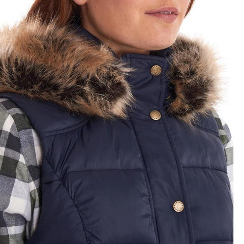 Barbour Gilet-Ullswater Ladies Gilet-Navy-LGI0029NY71 collar
