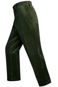 Hoggs Cords-Heavyweight Corduroy Trousers-Olive Green- HOFHCT quality