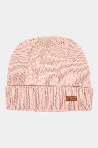Barbour Cable Hat and Scarf Set - Pink - LAC0142PI15 - Hat