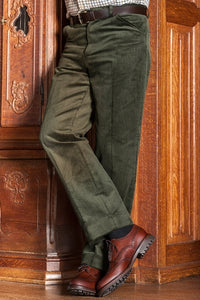 Hoggs Cords-Heavyweight Corduroy Trousers-Olive Green- HOFHCT