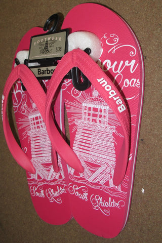 Barbour Beach Sandal ladies flipflop in Pink LBS0001PI51