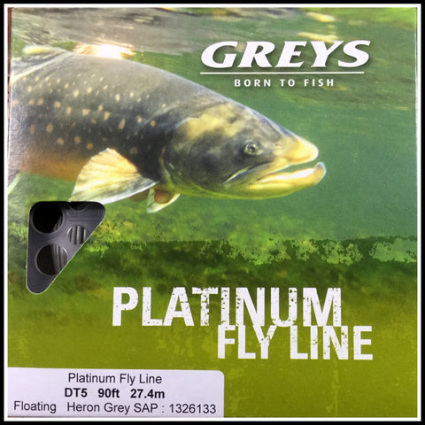 Greys New Platinum Fly fishing line DT5F in Heron Grey 1326133