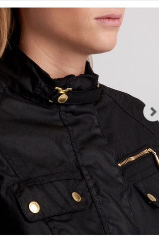 Barbour Leader International in Black LWX0818BK71