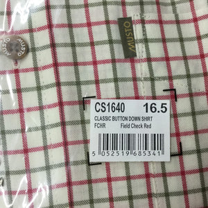 Musto Shirt-Classic Button Down Collar-Field Check Red-CS1640 check