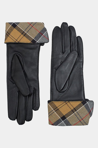 Barbour Ladies Lady Jane Leather Gloves - Black - LGL0005BK11 - Inside Palm View