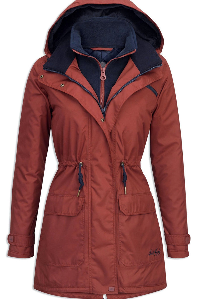 a0176077a10 Jack Murphy Ladies Brooke Dog walking coat just £99 in Brick Red JAC75 -  Smyths Country Sports