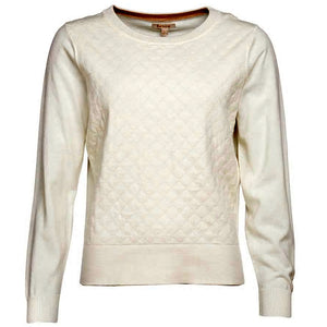 Barbour Sweater-Sailboat-Crawford Knit-Off White-LKN1016WH12 detail
