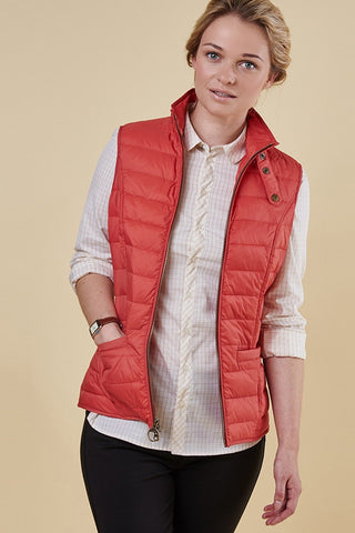 Barbour orange ladies gilet