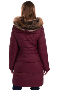 Barbour Quilt-Caldbeck-New Ladies-Bordeaux-LQU1080RE75 back