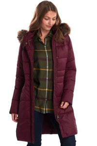 Barbour Quilt-Caldbeck-New Ladies-Bordeaux-LQU1080RE75 long