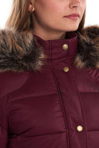 Barbour Quilt-Caldbeck-New Ladies-Bordeaux-LQU1080RE75 hood