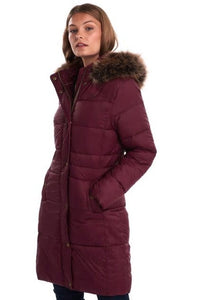 Barbour Quilt-Caldbeck-New Ladies-Bordeaux-LQU1080RE75 red