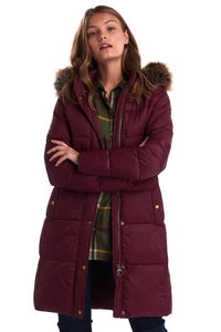 Barbour Quilt-Caldbeck-New Ladies-Bordeaux-LQU1080RE75