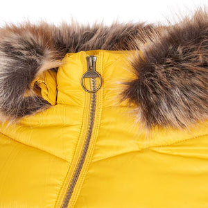 Barbour Quilted Jacket-Irvine-Golden Yellow-LQU1227YE71 hood