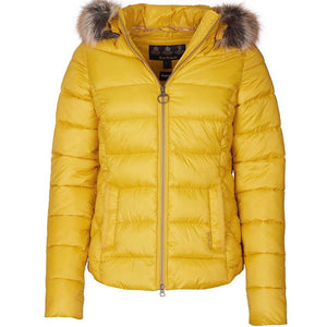 Barbour Quilted Jacket-Irvine-Golden Yellow-LQU1227YE71 shape