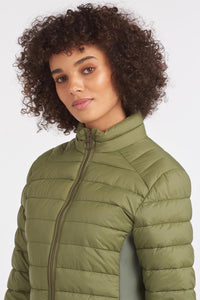 Barbour Avebury-Ladies Quilted jacket-New-Bayleaf-Olive Green-LQU1297GN31collar