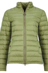 Barbour Avebury-Ladies Quilted jacket-New-Bayleaf-Olive Green-LQU1297GN31 flat