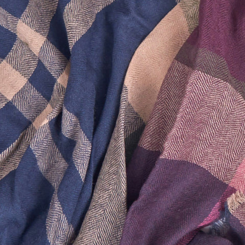 Barbour Scarf-Lawers Tartan-Taupe/Pink-LSC0245BE91 check,