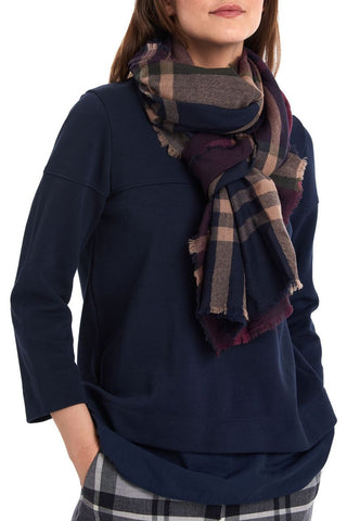 Barbour Scarf-Lawers Tartan-Taupe/Pink-LSC0245BE91