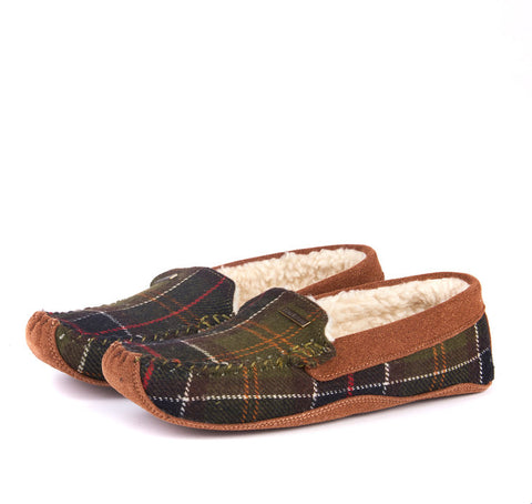Barbour Slippers Betsy Ladies Mocasins in Classic Tartan LSL0002TN11