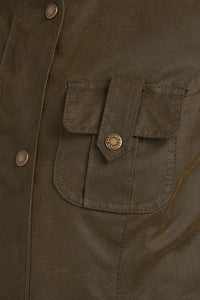 Barbour Winter Defence-Ladies Wax jacket-Olive Green-LWX1066OL51 detail