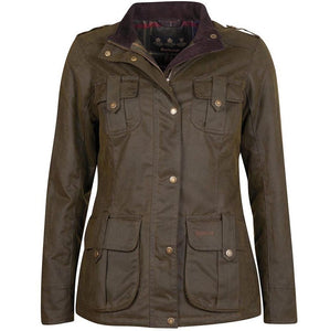 Barbour Winter Defence-Ladies Wax jacket-Olive Green-LWX1066OL51 quilt lining