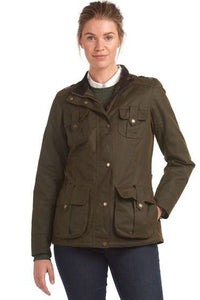 Barbour Winter Defence-Ladies Wax jacket-Olive Green-LWX1066OL51