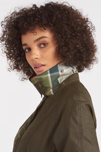 Barbour Aintree-Ladies-Wax Jacket-Olive-New-LWX1140OL99 classic collar