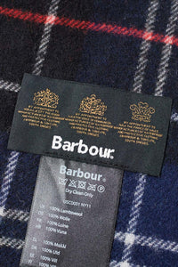 Barbour Tartan Lambswool Scarf - Navy/Red - USC0001NY11 - Label Detail