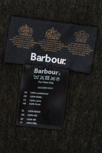 Barbour Scarf Plain Lambswool - Seaweed - USC0008GN31 - Label Detail