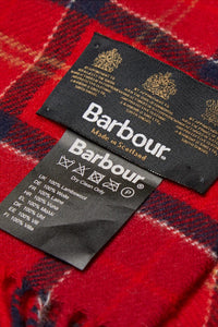Barbour Tartan Lambswool Scarf - Red Cardinal - USC0001TN12 - Label Detail