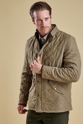 Buy Yourwarm Cosy Barbour Bowden Mens Quilt In Light Olive