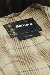 Barbour Stockman Long Wax Coat - Rustic Brown - MWX0006BR71 - Lining Detail