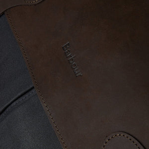 Barbour Briefcase Wax Leather - Navy - UBA0004NY91 - Branding Detail