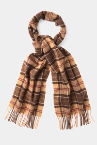 Barbour Tartan Lambswool Scarf - Muted Tartan - USC0001TN911 - Looped View