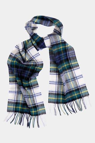 Barbour Scarf New Check Tartan - Dress Gordon - USC0137GN11 - Looped View