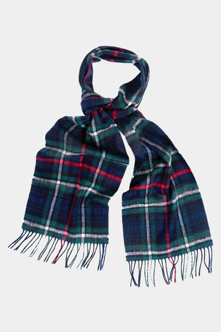 Barbour Scarf New Check Tartan - MacKenzie Tartan - USC0137NY92 - Looped View