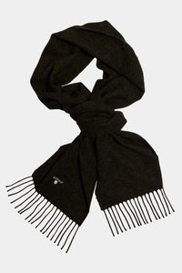 Barbour Scarf Plain Lambswool - Seaweed - USC0008GN31 - Looped View