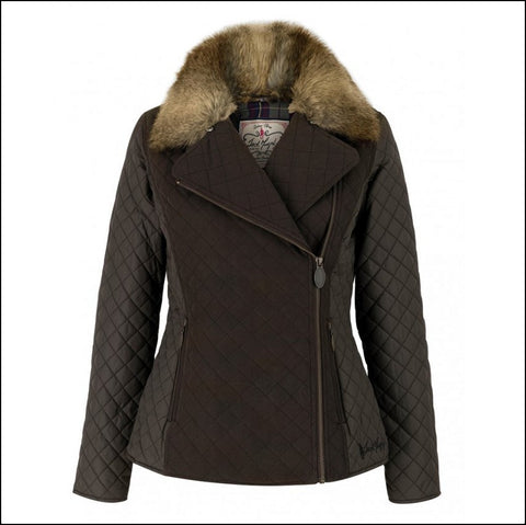 Jack Murphy Lulu Ladies Quilted Jacket in Heritage Brown
