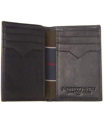 Barbour Wallet Portrait in BLACK Leather MAC0122BK11